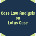 """Case Law Analysis of """"The Lotus Case"""""""